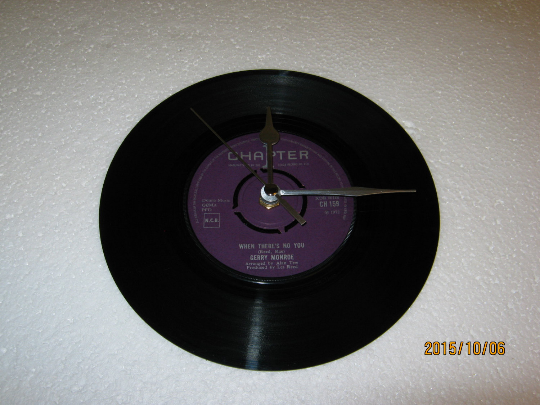 "Gerry Monroe - ""When There's No You"" 7"" Vinyl Record Wall Clock"