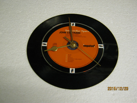 "John Coltrane - ""Interstellar Space"" 7"" Vinyl Record & CD Wall Clock"