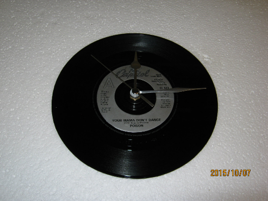"Poison - ""Your Mama Don't Dance"" 7"" Vinyl Record Wall Clock"