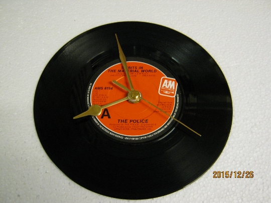 "The Police - ""Spirits In The Material World"" 7"" Vinyl Record Wall Clock"