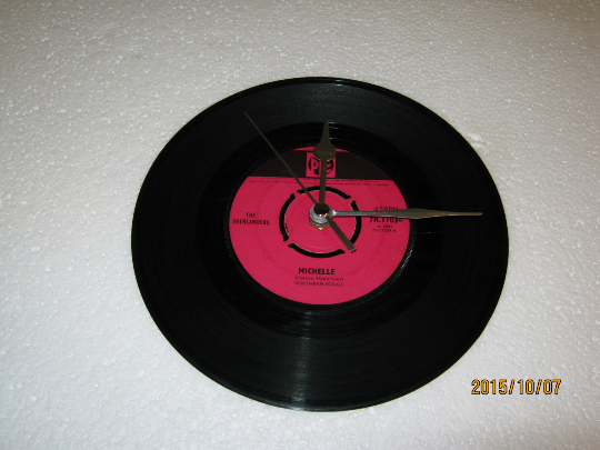"The Overlanders - ""Michelle"" 7"" Vinyl Record Wall Clock"