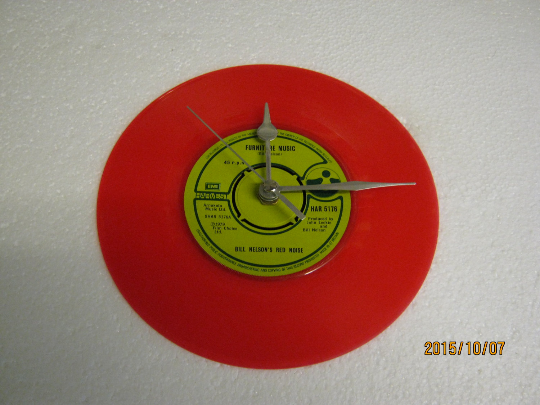 "Bill Nelson's Red Noise - ""Furniture Music"" 7"" Red Vinyl Record Wall Clock"