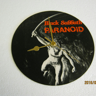 "Black Sabbath - ""Paranoid"" 7"" Vinyl Record Sleeve Wall Clock"