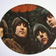 "The Beatles - ""Rubber Soul"" 12"" Vinyl Record Sleeve Wall Clock"