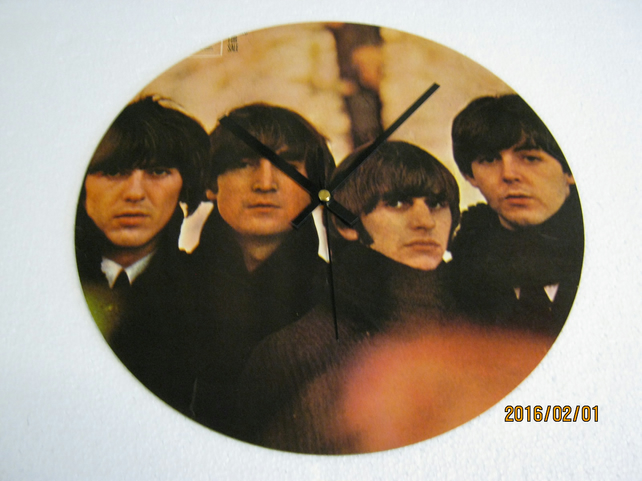 "The Beatles - ""Beatles For Sale"" 12"" Vinyl Record Sleeve Wall Clock"
