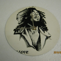 "Bob Marley & The Wailers - ""Is This Love"" 7"" Vinyl Record Sleeve Wall Clock"
