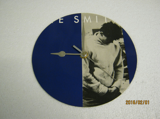 "The Smiths - ""How Soon Is Now"" 7"" Vinyl Record Sleeve Wall Clock"