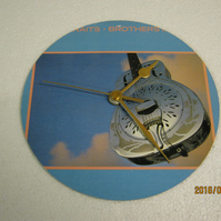 "Dire Straits - ""Brothers In Arms"" 7"" Vinyl Record Sleeve Wall Clock"