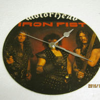 "Motorhead - ""Iron Fist"" 7"" Vinyl Record Sleeve Wall Clock"