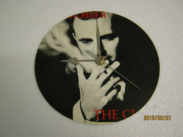 "The Clash - ""Bankrobber"" 7"" Vinyl Record Sleeve Wall Clock"