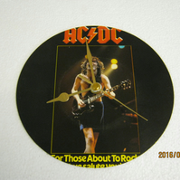"AC DC - ""For Those About To Rock (We Salute You)"" 7"" Vinyl Record Wall Clock"