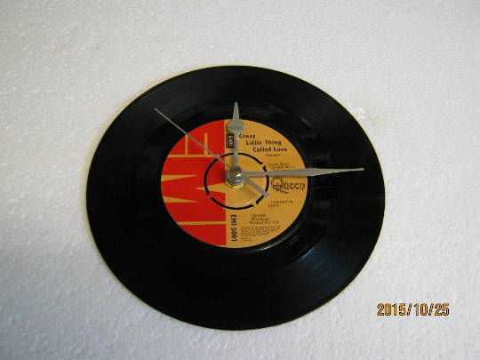 "Queen - ""Crazy Little Thing Called Love"" 7"" Vinyl Record Wall Clock"