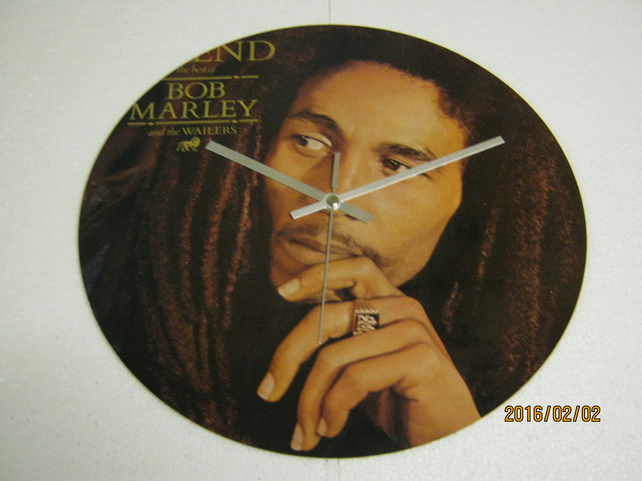 "Bob Marley & The Wailers - ""Legend"" 12"" Album Sleeve Wall Clock"