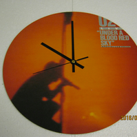 "U2 - ""Live Under A Blood Red Sky"" 12"" Vinyl Record Sleeve Wall Clock"