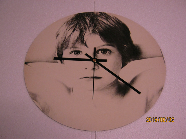 "U2 - ""Boy"" 12"" Vinyl Record Sleeve Wall Clock"