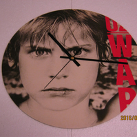 "U2 - ""War"" 12"" Vinyl Record Sleeve Wall Clock"