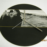 "U2 - ""The Joshua Tree"" 12"" Vinyl Record Sleeve Wall Clock"