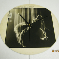"U2 - ""Wide Awake In America"" 12"" Vinyl Record Sleeve Wall Clock"