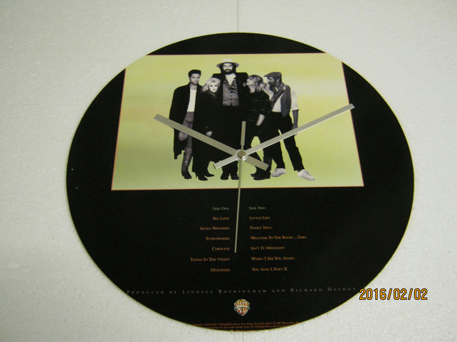"Fleetwood Mac - ""Tango In The Night"" 12"" Vinyl Record Sleeve Wall Clock"