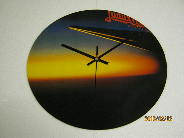 "Judas Priest - ""Point Of Entry"" 12"" Vinyl Record Sleeve Wall Clock"