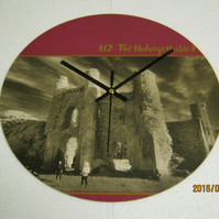 "U2 - ""The Unforgettable Fire"" 12"" Vinyl Record Sleeve Wall Clock"