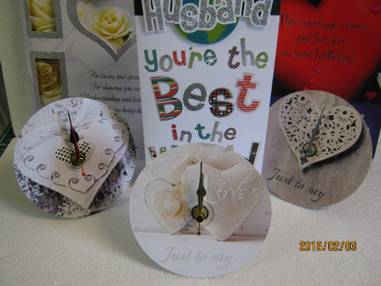 "Valentine's Desktop - ""Just To Say"" Mounted CD Clock"