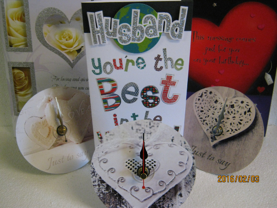 Valentine's Heart Desktop Mounted CD Clock