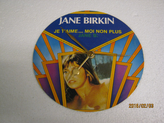 "Jane Birkin - ""Je T'Aime...Moi Non Plus"" 7"" Vinyl Record Sleeve Wall Clock"