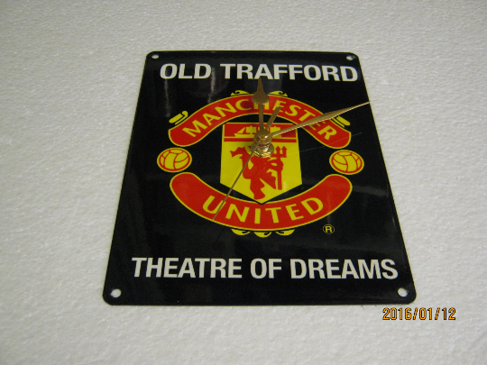 Manchester United Old Trafford Enamel Wall Clock