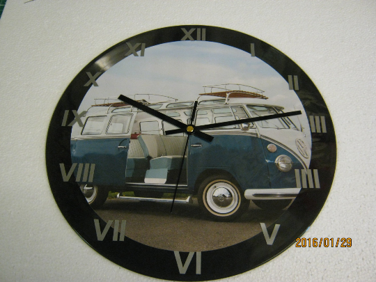 "Split Screen Volkswagen Camper Van 12"" Wall Clock"