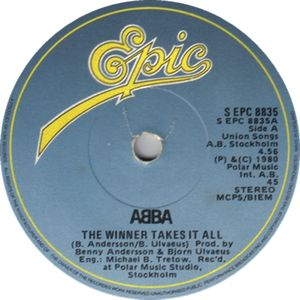"ABBA - ""The Winner Takes It All"" Vinyl Record Wall Clock"