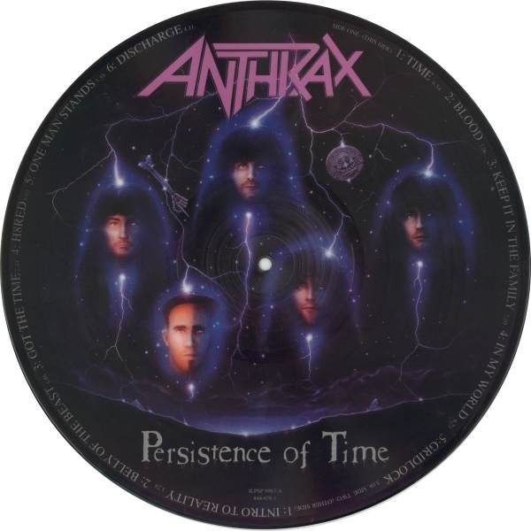"Anthrax - ""Persistence Of Time"" Vinyl Record Wall Clock"