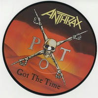 "Anthrax - ""Got The Time"" Vinyl Record Wall Clock"