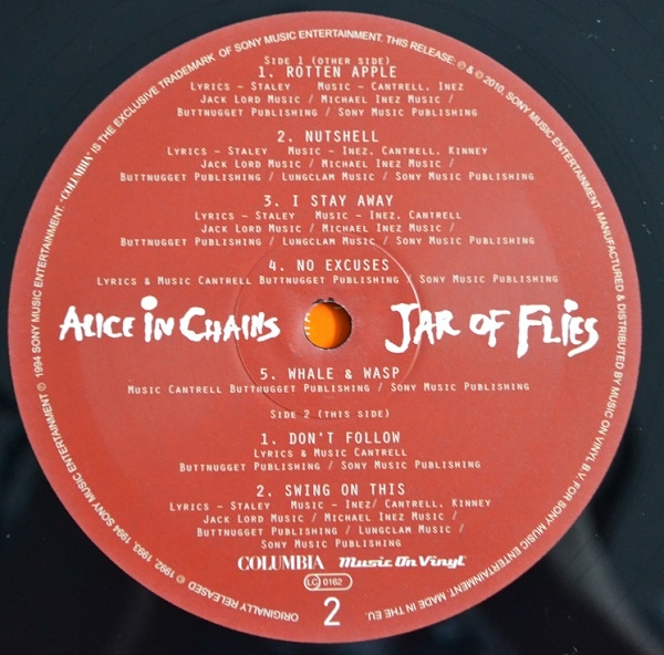 "Alice In Chains - ""Jar Of Flies"" Vinyl Record Wall Clock"