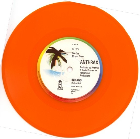 "Anthrax - ""Indians"" Vinyl Record Wall Clock"
