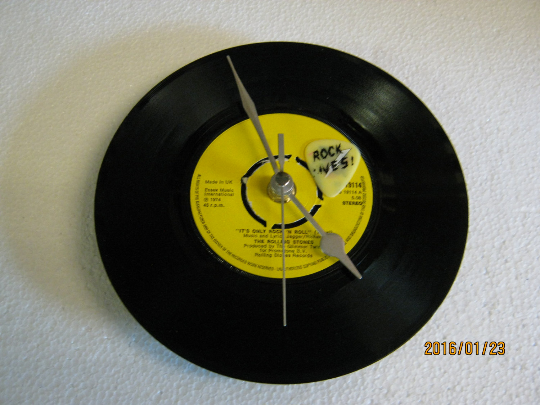 "The Rolling Stones - ""It's Only Rock 'N' Roll"" Vinyl Record Wall Clock"