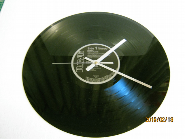 "Autograph - ""Sign In Please"" Vinyl Record Wall Clock"