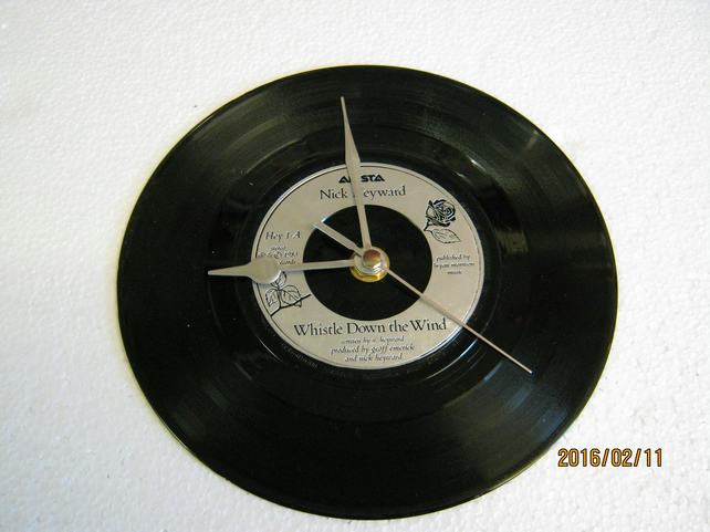 "Nick Heyward - ""Whistle Down The Wind"" Vinyl Record Wall Clock"