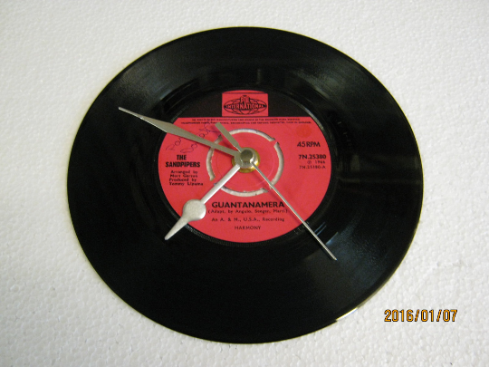 "The Sandpipers - ""Guantanamera"" Vinyl Record Wall Clock"