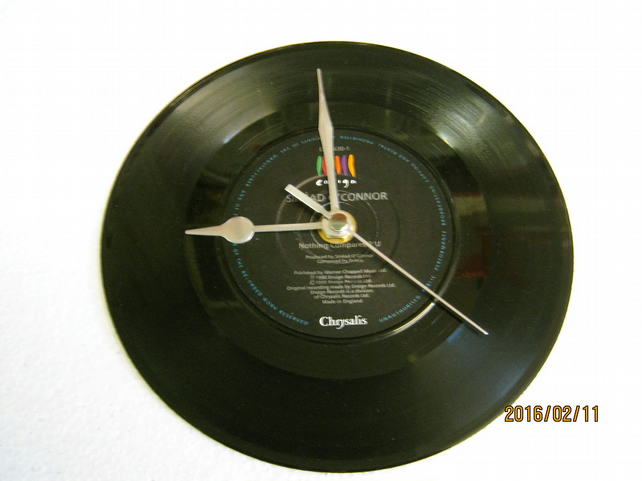 "Sinead O'Connor - ""Nothing Compares 2 U"" Vinyl Record Wall Clock"