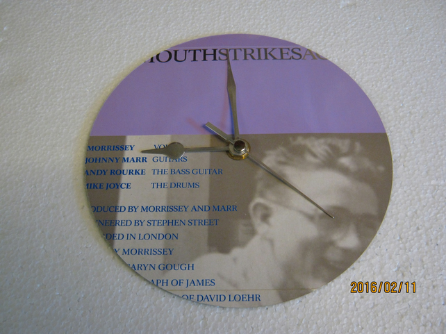"The Smiths - ""Bigmouth Strikes Again"" 7"" Vinyl Record Sleeve Wall Clock"