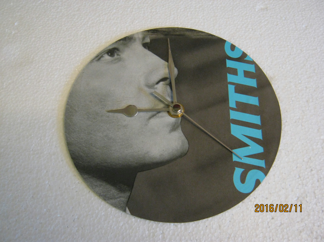 "The Smiths - ""Panic"" 7"" Vinyl Record Sleeve Wall Clock"