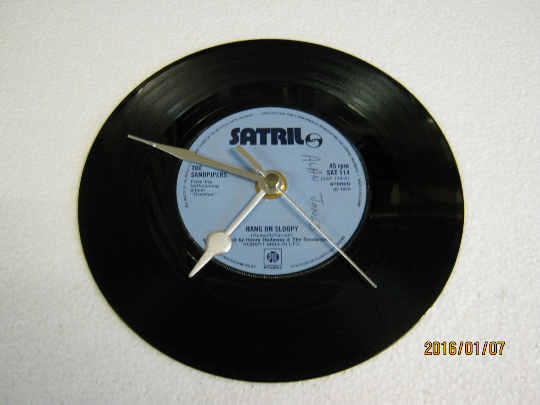 "The Sandpipers - ""Hang On Sloopy"" Vinyl Record Wall Clock"