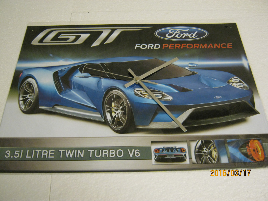 Ford GT (Unlearn Ford) Metal Enamel Wall Clock