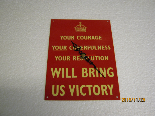 Your Courage Will Bring Us Victory Metal Enamel Wall Clock