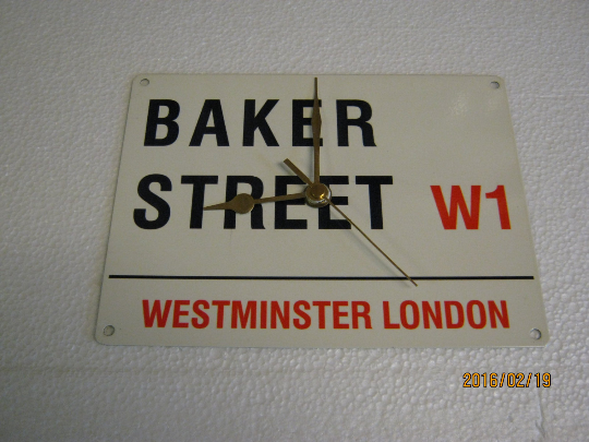 "City Of London Road Sign - ""Baker Street"" Metal Enamel Wall Clock"