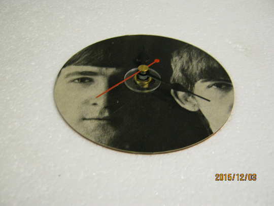 The Beatles - John Lennon & George Harrison CD Wall Clock