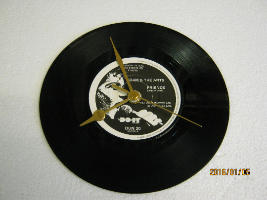 "Adam And The Ants - ""Friends"" Record Wall Clock"