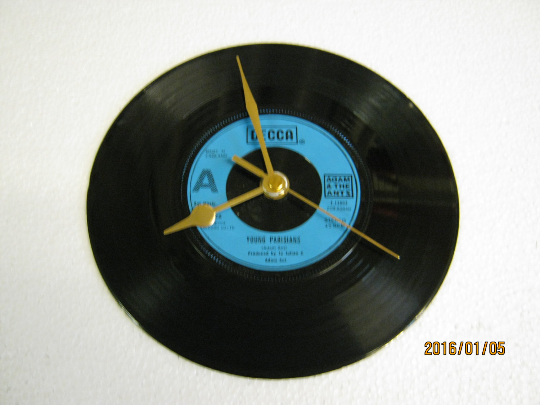 "Adam And The Ants - ""Young Parisians"" Record Wall Clock"