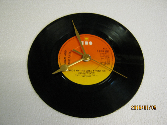 "Adam And The Ants - ""Kings Of The Wild Frontier"" Record Wall Clock"